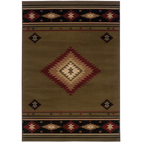 HUDSON 087J1 Green, Red Rug - Oriental Weavers