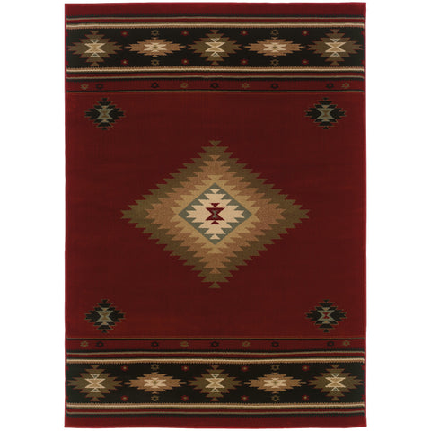 HUDSON 087K1 Red, Green Rug - Oriental Weavers