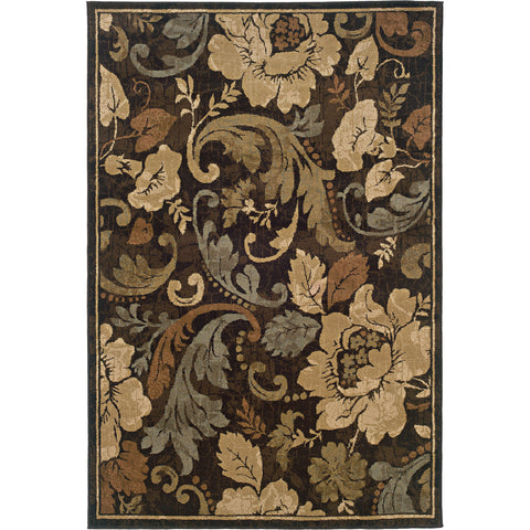 HUNTINGTON 1279E Brown, Beige Rug - Oriental Weavers