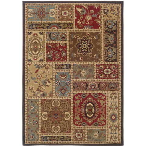 HUNTINGTON 1716C Beige, Brown Rug - Oriental Weavers