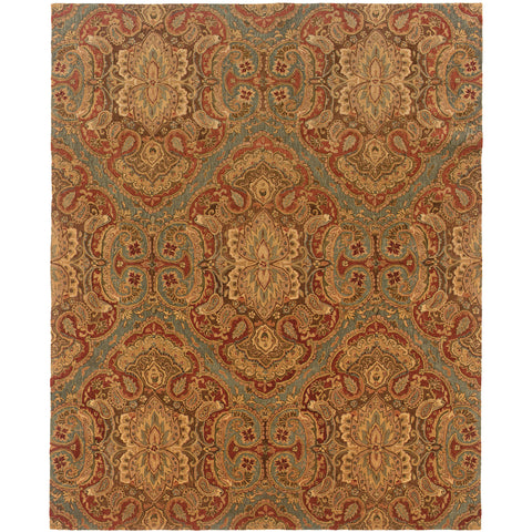 HUNTLEY 19101 Blue, Rust Rug - Oriental Weavers