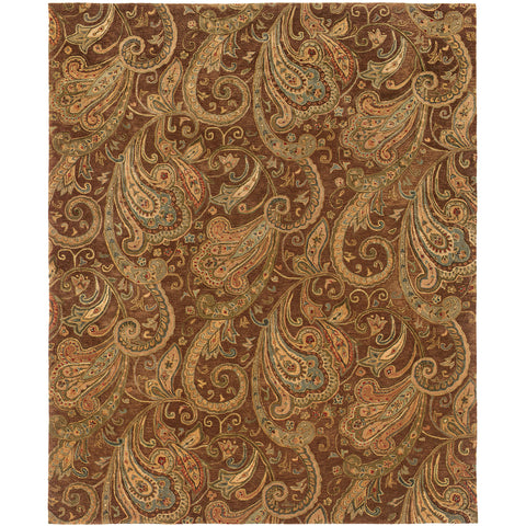 HUNTLEY 19102 Brown, Gold Rug - Oriental Weavers