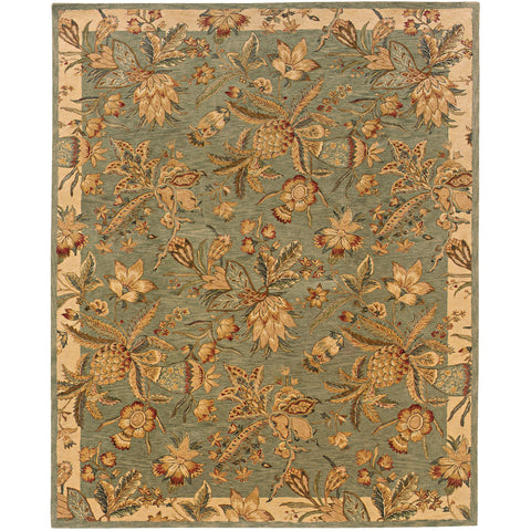 HUNTLEY 19103 Blue, Ivory Rug - Oriental Weavers