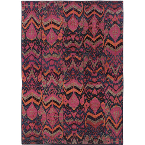 KALEIDOSCOPE 004X5 Midnight, Pink Rug - Oriental Weavers