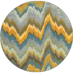 KALEIDOSCOPE 8020G Yellow, Blue Rug - Oriental Weavers