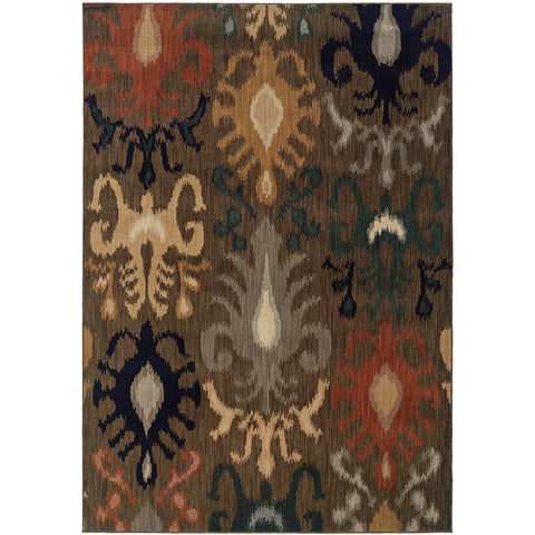KASBAH 3830D Brown, Navy Rug - Oriental Weavers