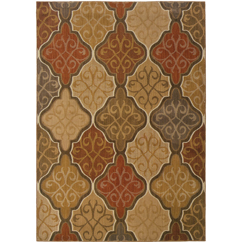 KASBAH 3832C Orange, Gold Rug - Oriental Weavers