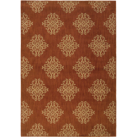 KASBAH 3835B Orange, Beige Rug - Oriental Weavers