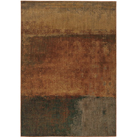 KASBAH 3937B Orange, Gold Rug - Oriental Weavers