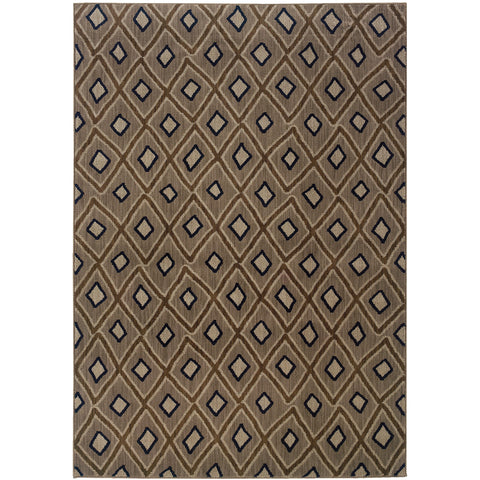 KASBAH 3943D Grey, Brown Rug - Oriental Weavers