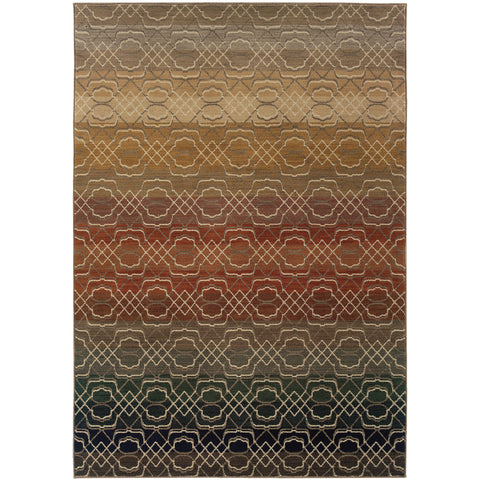 KASBAH 3945B Brown, Rust Rug - Oriental Weavers