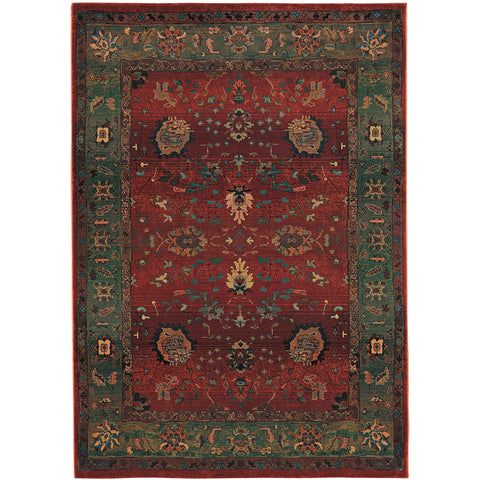 KHARMA 807C4 Red, Green Rug - Oriental Weavers