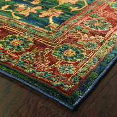 KHARMA 836F4 Blue, Red Rug - Oriental Weavers