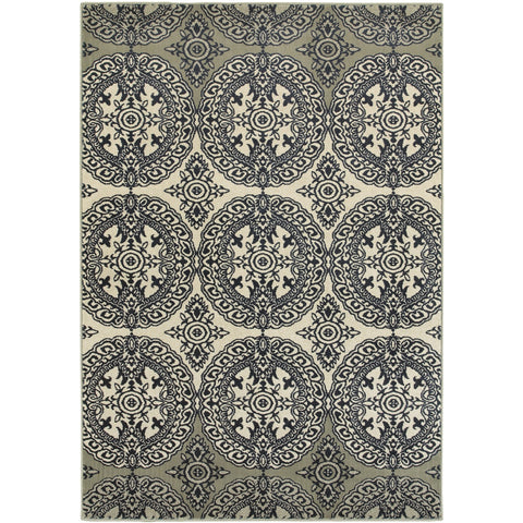 LINDEN 7818A Navy, Ivory Rug - Oriental Weavers