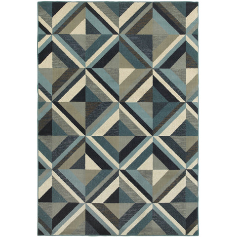 LINDEN 7902A Blue, Grey Rug - Oriental Weavers