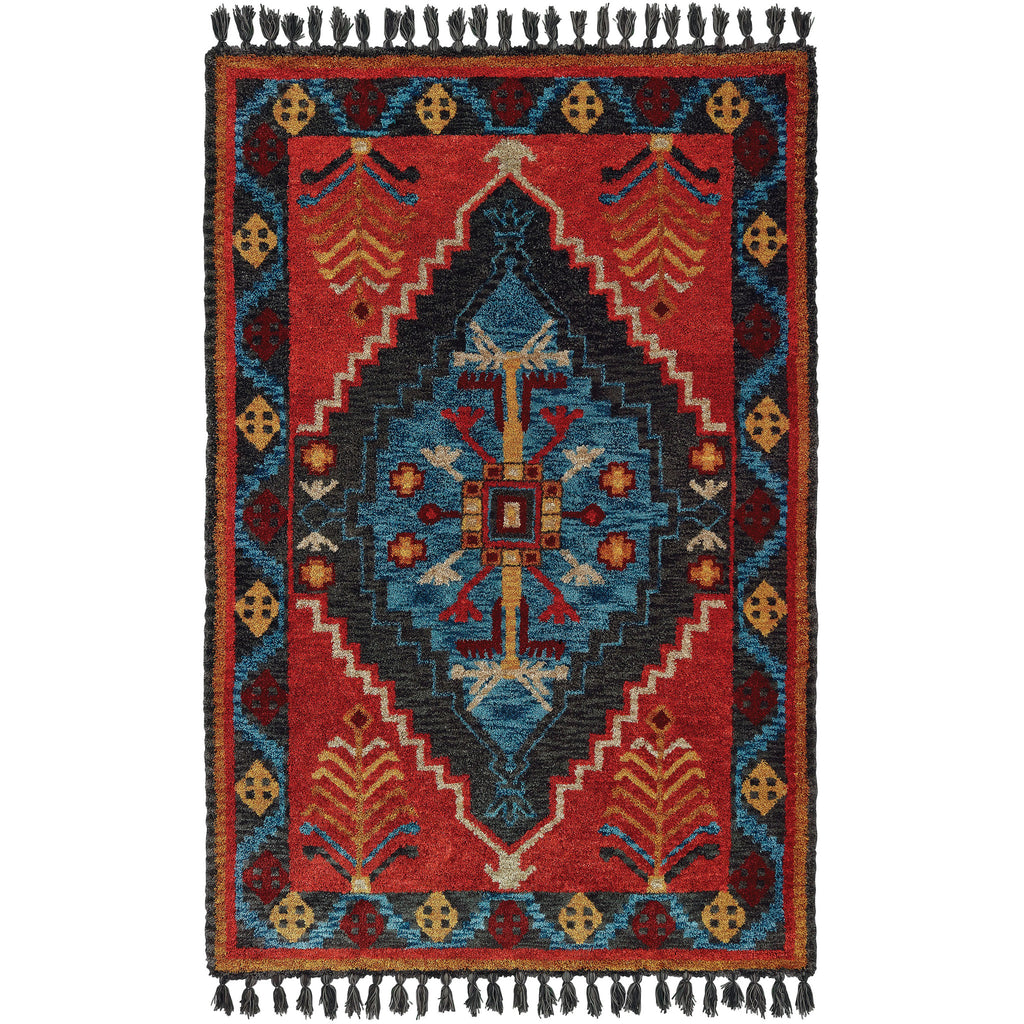 MADISON 61403 Rust, Blue Rug - Oriental Weavers