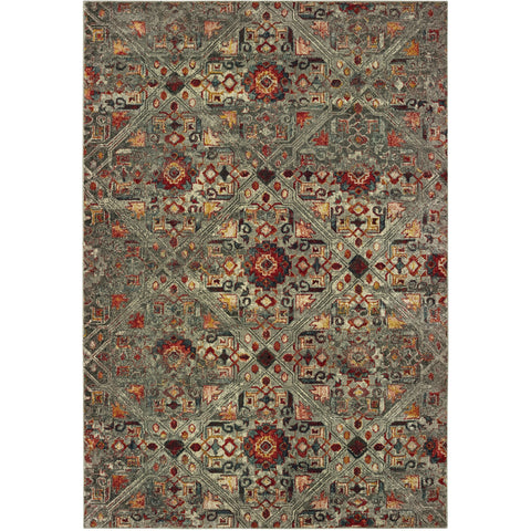 MANTRA 003X7 Grey, Red Rug - Oriental Weavers