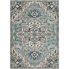 Mesopotamia Medium Gray, Teal Rug - Surya (MEP-2311)
