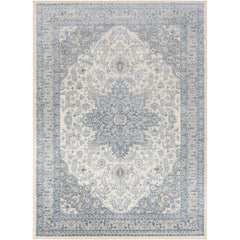 Monaco Bright Blue, Cream Rug - Surya (MOC-2313)