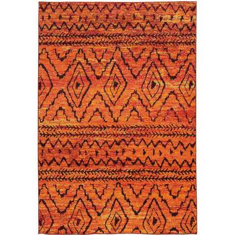NOMAD 8122O Orange, Red Rug - Oriental Weavers