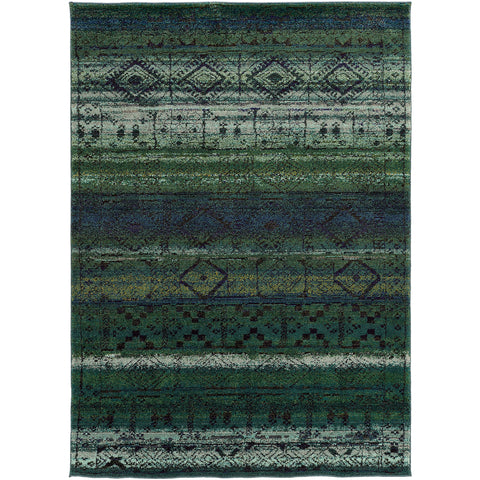 NOMAD 8123G Green, Blue Rug - Oriental Weavers