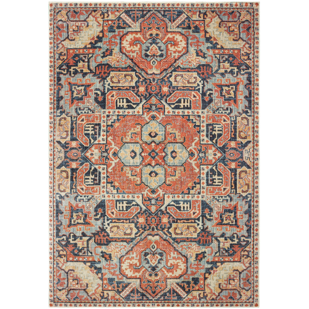 PANDORA 049S7 Blue, Orange Rug - Oriental Weavers