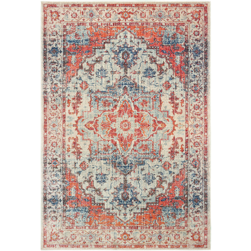 PANDORA 070W7 Blue, Orange Rug - Oriental Weavers