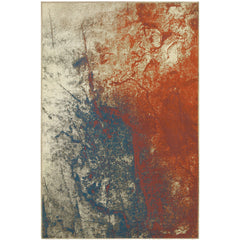 PASHA 1334E Beige, Orange Rug - Oriental Weavers