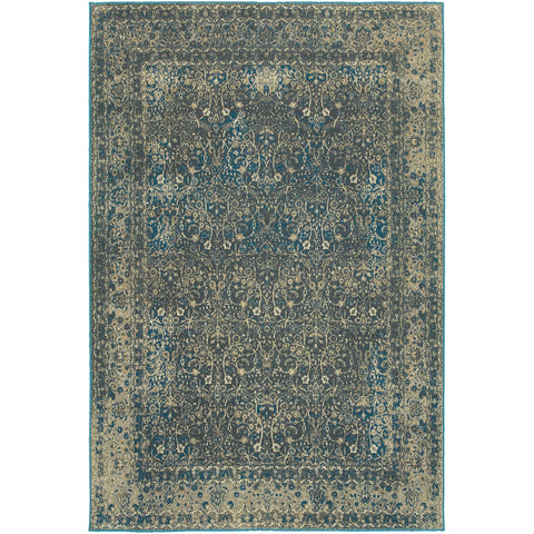 PASHA 1337B Navy, Grey Rug - Oriental Weavers