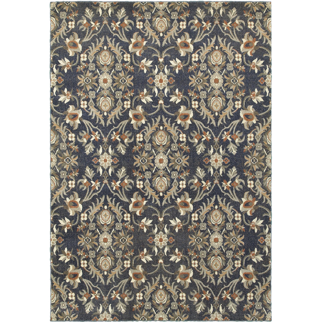 PASHA 6548S Blue, Brown Rug - Oriental Weavers