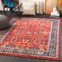 Patina Bright Red, Navy Rug - Surya (PIA-2302)