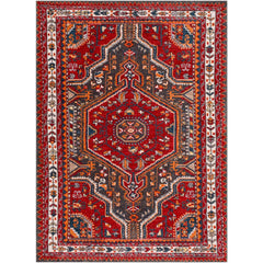 Patina Bright Red, Charcoal Rug - Surya (PIA-2304)