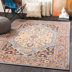Patina Light Gray, Wheat Rug - Surya (PIA-2307)