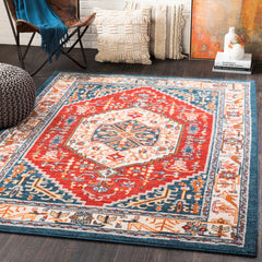Patina Navy, Bright Red Rug - Surya (PIA-2311)