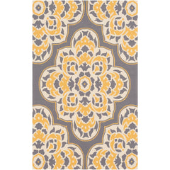 Rain Bright Yellow, Medium Gray Rug - Surya (RAI-1267)