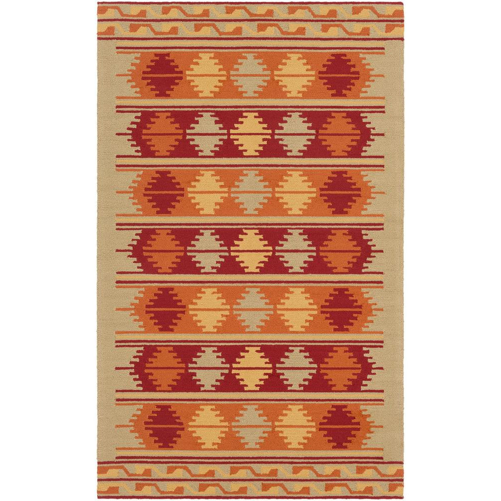 Rain Moss, Burnt Orange Rug - Surya (RAI-1273)