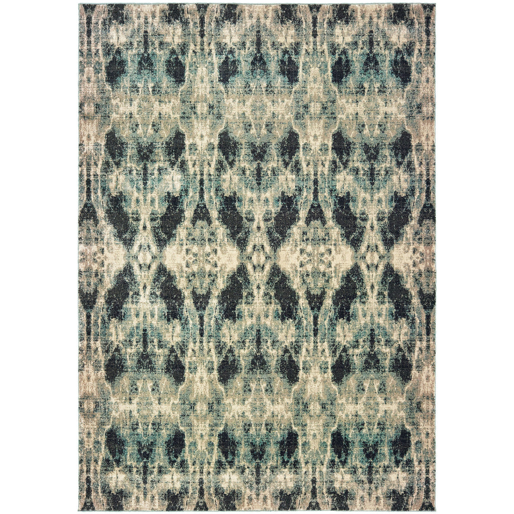 RALEIGH 5507B Grey, Blue Rug - Oriental Weavers