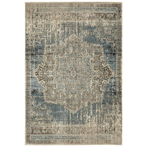 RALEIGH 6649h Blue Rug - Oriental weavers