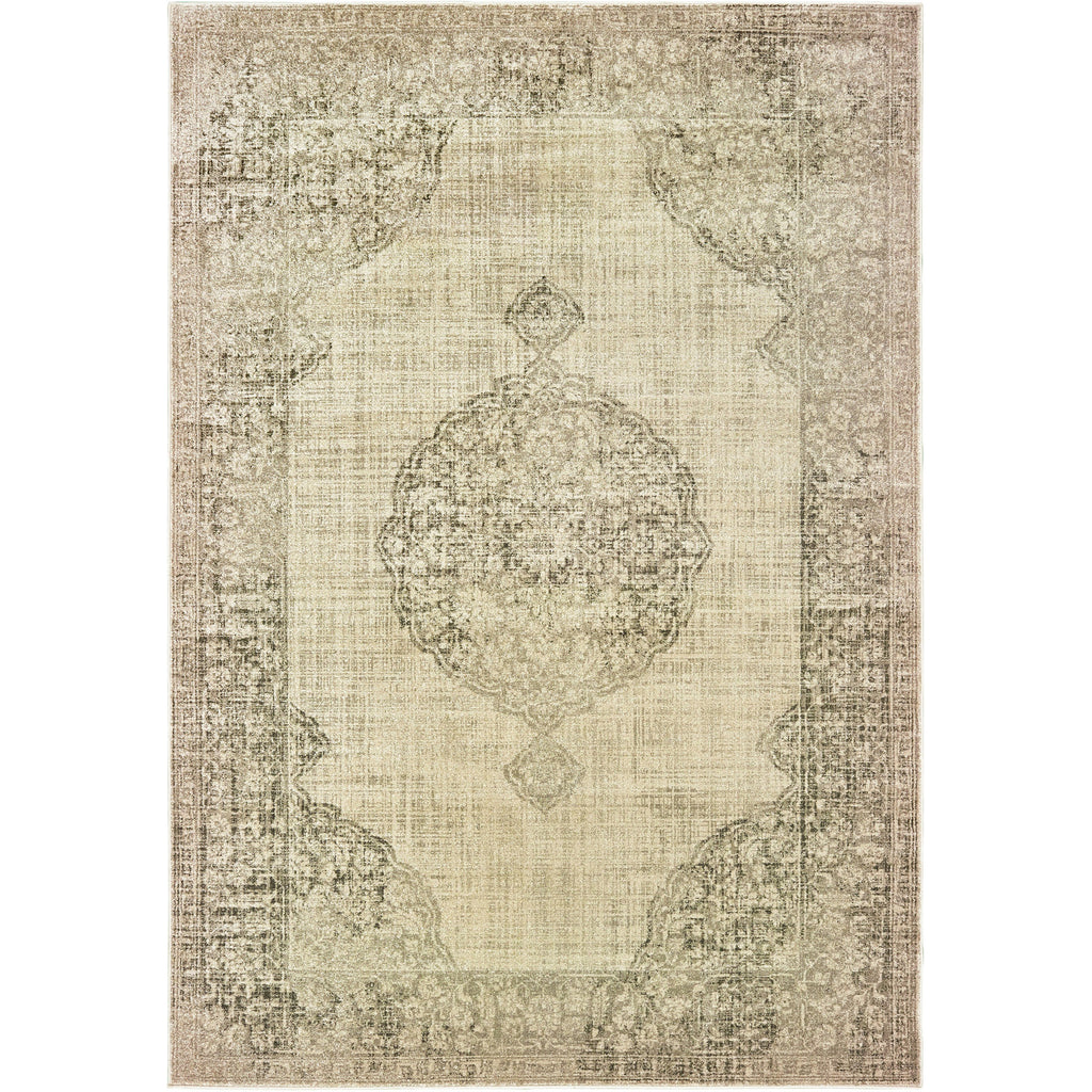 RALEIGH 099D5 Ivory, Grey Rug - Oriental Weavers