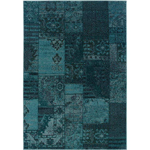 REVIVAL 501G2 Teal, Grey Rug - Oriental Weavers