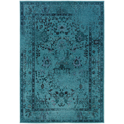 REVIVAL 550H2 Teal, Grey Rug - Oriental Weavers