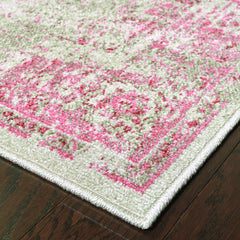 REVIVAL 6330F Grey, Pink Rug - Oriental Weavers