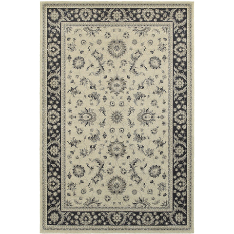 RICHMOND 117W3 Ivory, Charcoal Rug - Oriental Weavers