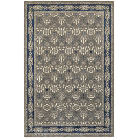 RICHMOND 119U3 Grey, Navy Rug - Oriental Weavers