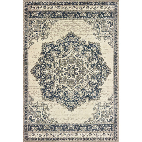 RICHMOND 5504I Ivory, Navy Rug - Oriental Weavers
