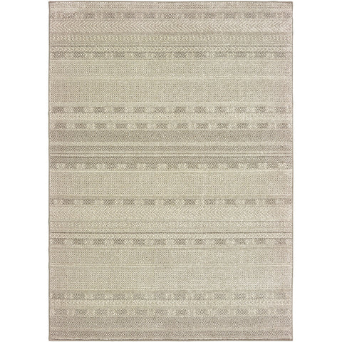 RICHMOND 801H3 Ivory, Brown Rug - Oriental Weavers