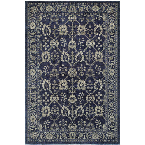 RICHMOND 8020K Navy, Grey Rug - Oriental Weavers