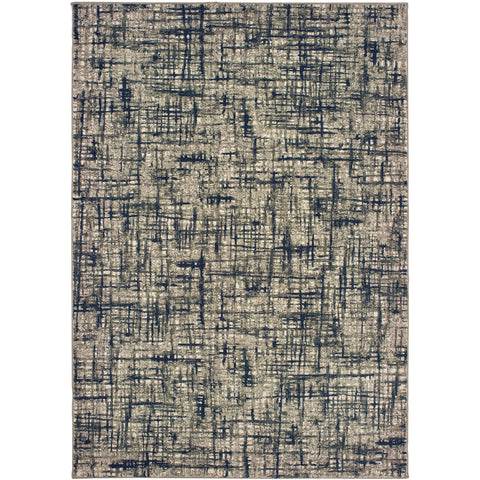 RICHMOND 802K3 Grey, Navy Rug - Oriental Weavers