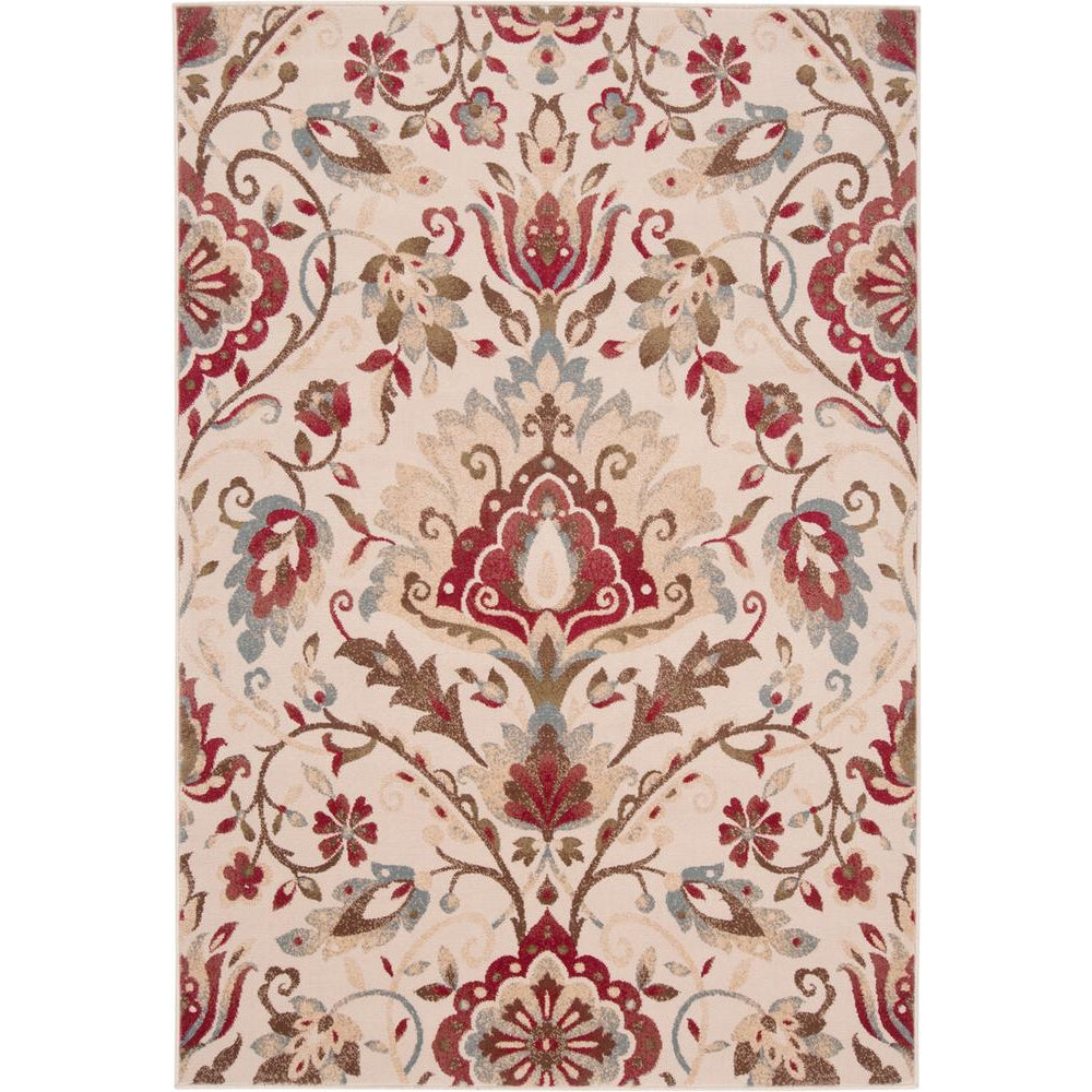 Riley Dark Red, Camel Rug - Surya (RLY-5017)