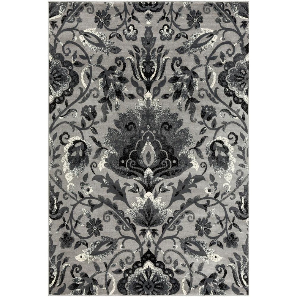 Riley Medium Gray, Charcoal Rug - Surya (RLY-5108)